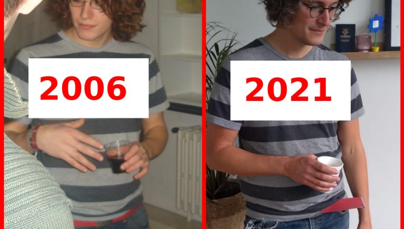 Bert Vercnocke in 2006 en 2021